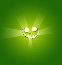 Face devil on green background vector