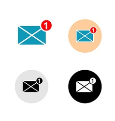 New mail message icon vector image vector image