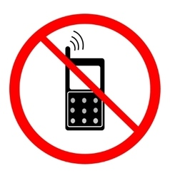 No telephone sign in red ring vector