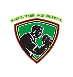 south africa rugby shield vector image