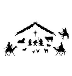 Traditional christmas scene vector
