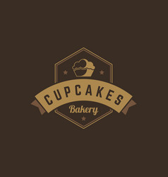 bakery shop logo template object for vector image