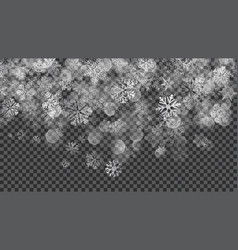 Christmas background of translucent falling vector