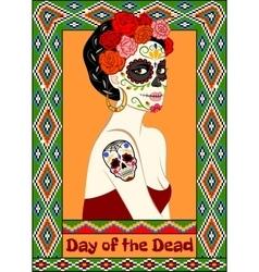 Dia de los Muertos card vector image