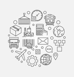 logistics and delivery round vector image vector image