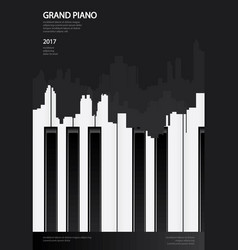 music grand piano poster background template vector image vector image