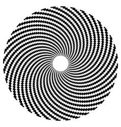 Optical art series Sphere vector image