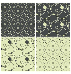 seamless patterns with polka dots and circles vector image vector image
