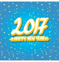 2017 Happy new year creative design background vector