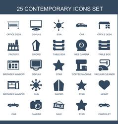 25 contemporary icons vector