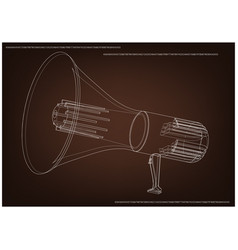 3d model of a speaker vector image