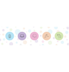 5 horn icons vector