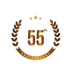 55 th anniversary template design vector