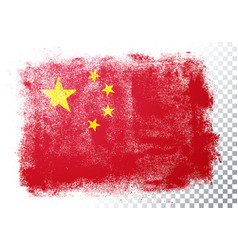 Abstract grunge flag china vector