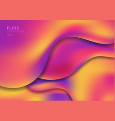 abstract template fluid shape in trendy bright vector image