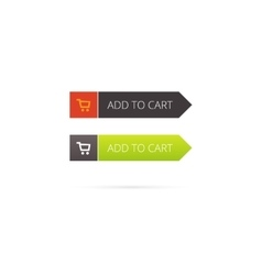 Add to cart button with shopping icon vector image