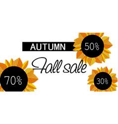 Autumn fall sale banner horizontal flat style vector