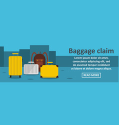 baggage claim banner horizontal concept vector image