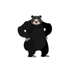 baribal angry emoji american black bear evil vector image