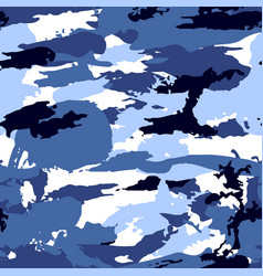 Blue camouflage equipment seamless pattern vector