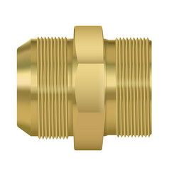 Bronze pipe fitting double sided vector