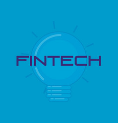 Bulb light fintech technology vector