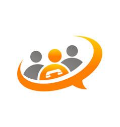 call center logo design template vector image