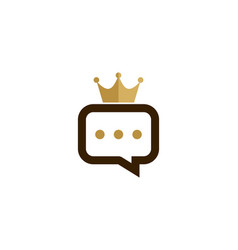 chat king logo icon design vector image