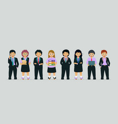 children in business suit vector image