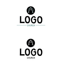 Church logo with the alpha and omega vector