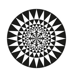 Circle of abstract isolated vector image