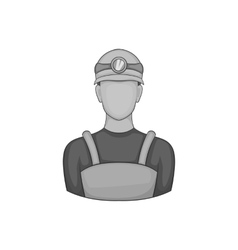 Coal miner icon black monochrome style vector