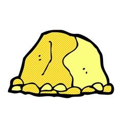 Comic cartoon gold nugget vector