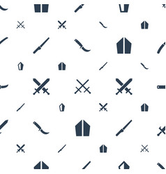 Dagger icons pattern seamless white background vector