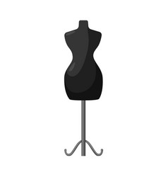 Design mannequin and tailor logo vector
