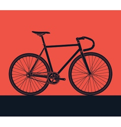 detailed bike silhouette vector image