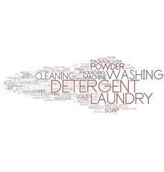 Detergent word cloud concept vector