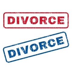 Divorce Rubber Stamps vector