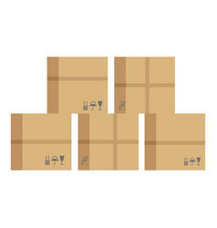 donation help box icon flat style vector image