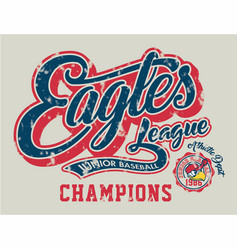 Eagles junior baseball vector