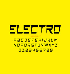Electric style font vector