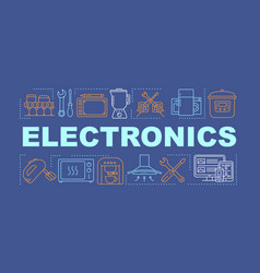 Electronics word concepts banner manufacture vector