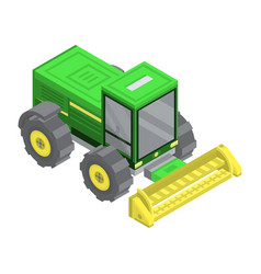 Farm machinery icon isometric style vector