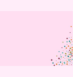 festive background with multicolored confetti vector image