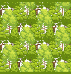 forest seamless pattern design - green eco texture vector image vector image