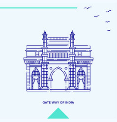 Gate way of india skyline vector