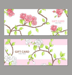 gift card in pink shades vector image