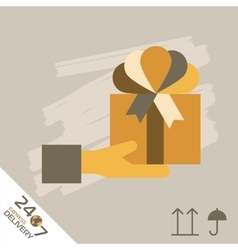 Gift xpress Delivery Symbols vector