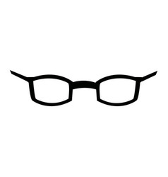 glasses accessory vision style cartoon vector image