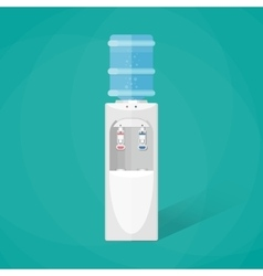 Gray water cooler with blue full bottle vector image